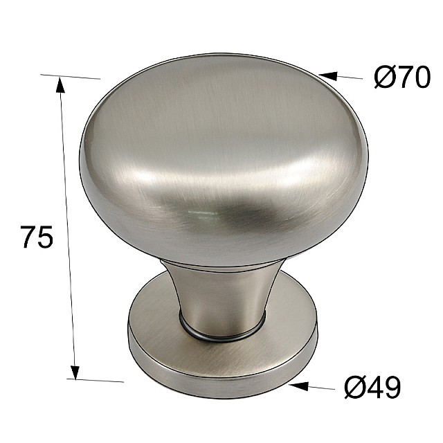DOOR KNOB / MAT NICKEL